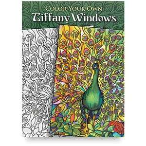 Books by Dover   Color Your Own Tiffany Windows Arts, Crafts & Sewing