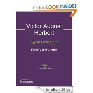 Gypsy Love Song Sheet Music Victor August Herbert  Kindle