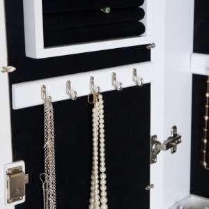 Wall Scroll Locking Multi Purpose Jewelry Armoire   High Gloss White