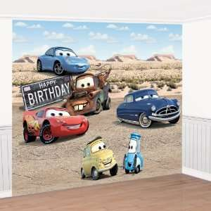 Disney Cars Giant Birthday Party Scene Setter Decorating Set 8 H x 12