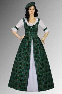 Scottish Tartan Two Piece Traditional Dress Handmade in Tartan Plaid