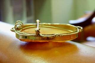 Estate 14k Yellow Gold & Shell Cameo Flora Pin Brooch Pendant 2 long