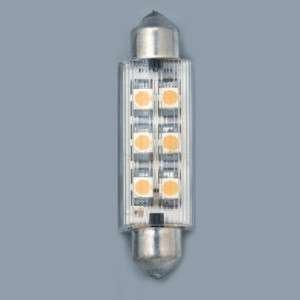 MARINE BOAT 6 LEDS BULB FESTOON COOL WHITE LIGHT 140LUX
