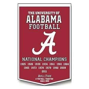 Alabama Crimson Tide 24X36 Dynasty Wool Banner Sports
