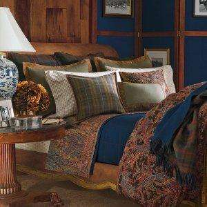 RALPH LAUREN BEDFORD HUNT PAISLEY QUEEN DUVET COVER SET 10P NEW