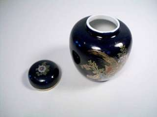 Unmarked Ginger Jar with Lid Asian Oriental Cobalt Blue