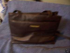 Laura Scott Dark Brown Leather Purse Handbag compartmen
