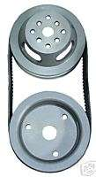 SBC V BELT PULLEY KIT,CRANK &SHORT WATER PUMP,CHEVY,11