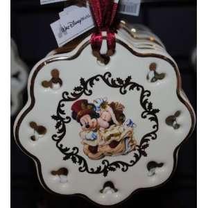 Disney Victorian Mickey Minnie Christmas Disc Ornament