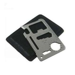 NEW 11 in 1 Survival Outdoor Camping Tool Multi Credit Card Knife