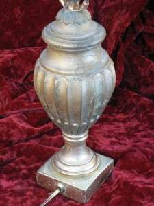 FRENCH EMPIRE NEOCLASSICAL GOLD URN COLUMN TABLE LAMP