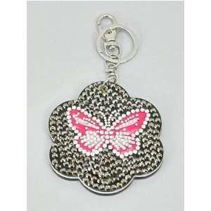 New Fashion Cute Flower Cosmetic Mirror Key Chain Ring