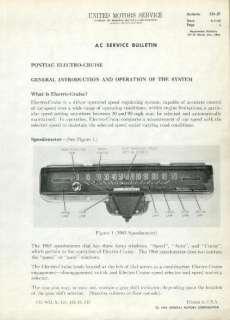 1964 1965 PONTIAC BONNEVILLE GTO CRUISE CONTROL REPAIR