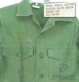1966 Vietnam War USMC US Marine Corps Cotton Sateen utility uniform