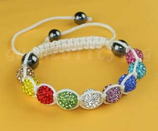 Worldwide HOT 10MM CZ Disco Ball Crystal Shamballa Bracelets +gift
