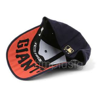 San Francisco Giants Flex Fit Ball Cap Hat GOLD navy BLUE