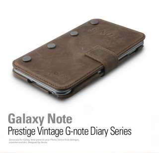 ZENUS SAMSUNG GALAXY NOTE N7000 i9220 PRESTIGE VINTAGE G NOTE DIARY