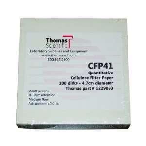 Thomas CFP41 185 Cellulose Quantitative Filter Paper, 18.5cm Diameter