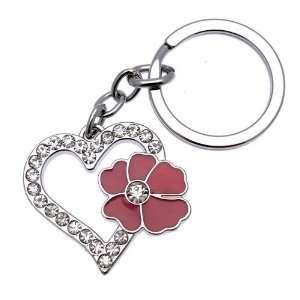 Acosta Jewellery   Dark Pink Enamel   Crystal Heart