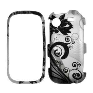 Premium   Samsung R630/R631/Messager Touch   Transparent Black Flowers