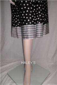 New Danny & Nicole New York Black White Belted Dress Misses Size 16