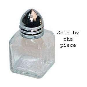 Salt Shaker, Mini Cube, Chrome Plated Metal Top, 1/2 Oz