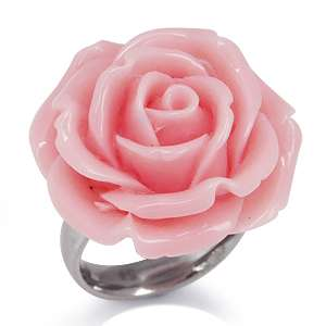 24MM Rose Pink Stainless Steel ROSE/FLOWER Ring(RN2075278.0001)