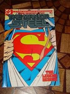 THE MAN OF STEEL #1 DC Comic Book 1986 SUPERMAN Nice