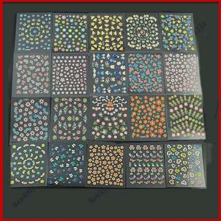 50pcs Different 3D Nail Art Design Stickers Sheet Decal