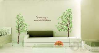 Wall Decor Decal Sticker Removable large tree Poem US SELLER