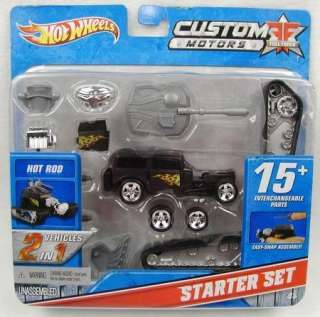 Custom Motors Starter Set HOT ROD Car Interchangable Easy Snap