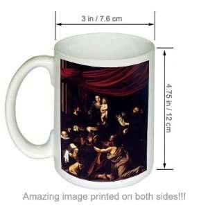 Caravaggio Art COFFEE MUG Madonna de Rosario