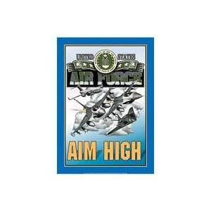 US Air Force Aim High Metal Sign