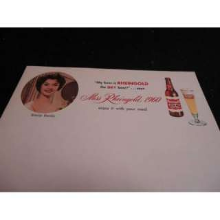 1960 MISS RHEINGOLD New York BEER Vintage Letterhead