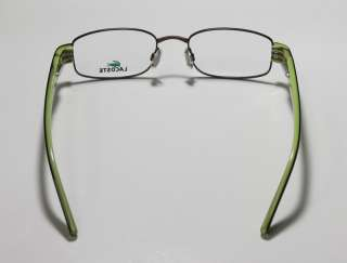 NEW LACOSTE 12237 49 18 135 DEMO LENS BROWN/GREEN EYEGLASS/GLASSES