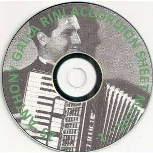 25 Anthony Galla Rini Accordion/ Accordian Sheet Music 1