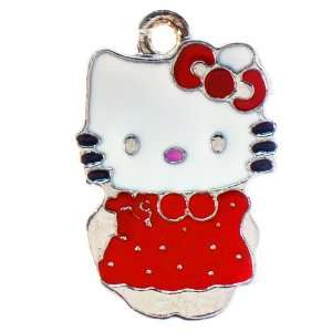 12X DIY Jewelry Making Hello Kitty with dress enamel