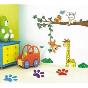 Monkey Hanging Wall Sticker Decal for Kids Room Living Room Baby