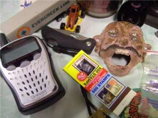 Junk Drawer Lot Knives Toys fishing Pins Disney Watch Tools