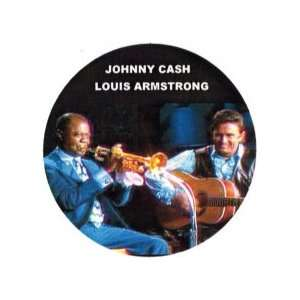 Louis Armstrong and Johnny Cash Big Pin