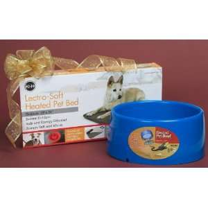 Dog Gift Set 8   Medium Heated Bed & Heated Bowl Pet