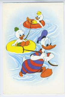 Walt DISNEY Donald Duck Swimsuit vintage 1963 postcard