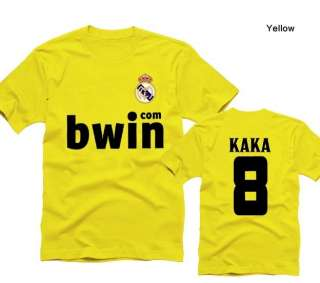 FC Real Madrid #8 KAKA Soccer Jersey Short Sleeved T Shirts M XXL