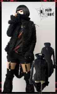 sexy kera goth punk japan nana fashion warm coat jacket