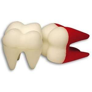 Foam Tooth, Giant White/Red   Sponge Magic Trick Toys & Games