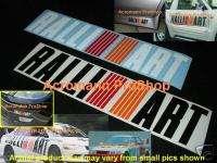 RALLIART Decal Sticker Mitsubishi Evo Eclipse Galant GT