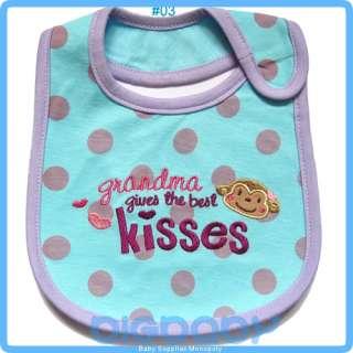 NEW Baby Feeding Bibs Boy Girl Unisex Soft Cotton 3 Layers Waterproof