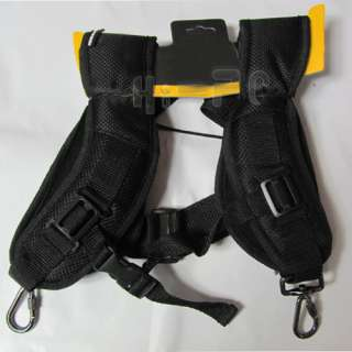 Double Rapid Shooting Camera Sling Black Dual Strap Belt Strap for 2