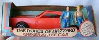 Vintage Mego DUKES OF HAZARD GENERAL LEE CAR w/ FIGURES MIB