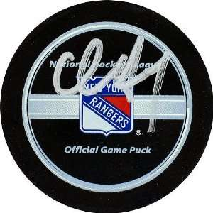 Chris Drury New York Rangers Autographed Puck Sports